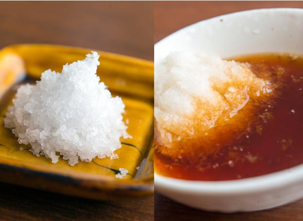 天ぷらたかおの塩とつゆ